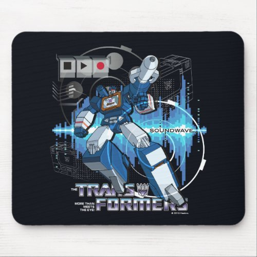 Transformers  Soundwave Iconography Collage Mouse Pad