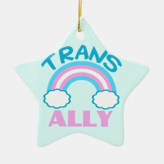 Transgender Ally Ceramic Ornament