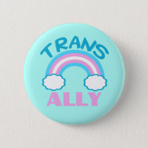 Transgender Ally Teal Pinback Button