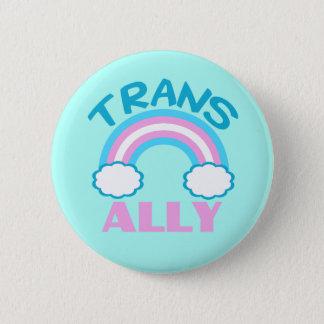 Transgender Ally Teal Pinback Button