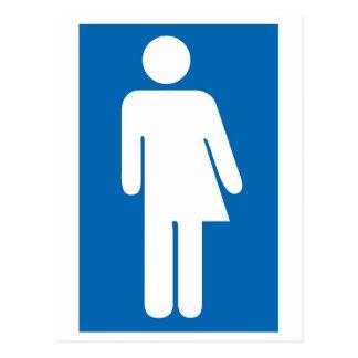 Transgender,androgynous, duality postcard