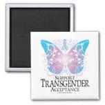 Transgender Butterfly 2 Inch Square Magnet