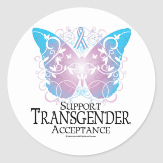 Transgender Butterfly Classic Round Sticker