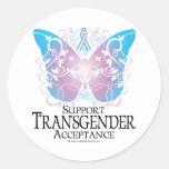 Transgender Butterfly Round Stickers