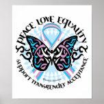 Transgender Butterfly Tribal Poster
