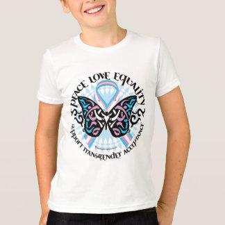 Transgender Butterfly Tribal T-Shirt