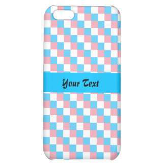 Transgender colors checkered pattern iPhone 5C covers