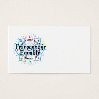 Transgender Equality Lotus Business Card