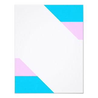 Transgender flag card