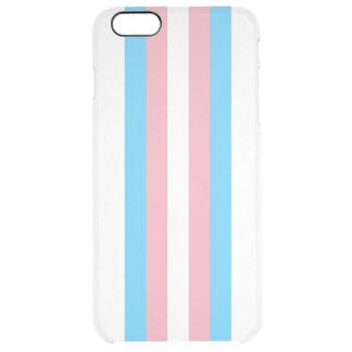 Transgender Flag Clear iPhone 6 Plus Case