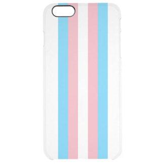 Transgender Flag Clear iPhone 6 Plus Case