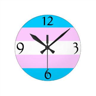 Transgender flag clock