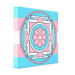 Transgender Flag Colors Mandala New Moon LGBT Canvas Print