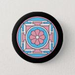 Transgender Flag Colors Mandala New Moon LGBT Pinback Button