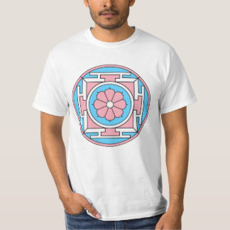 Transgender Flag Colors Mandala New Moon LGBT T-Shirt