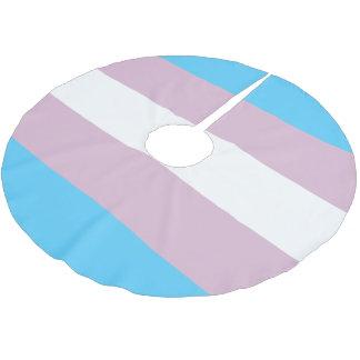Transgender Flag Tree Skirt