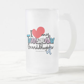 Transgender Granddaughter Frosted Glass Beer Mug