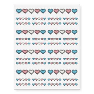 Transgender Hearts Temporary Tattoos
