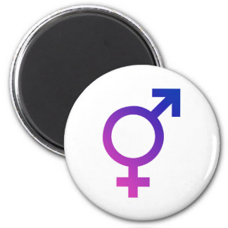 Transgender Hermaphrodite Gender Pride Symbol 2 Inch Round Magnet