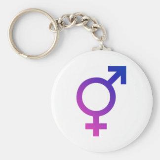 Transgender Hermaphrodite Gender Pride Symbol Basic Round Button Keychain