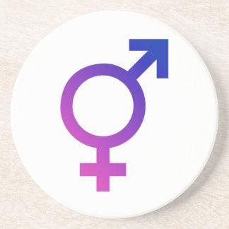 Transgender Hermaphrodite Gender Pride Symbol Drink Coaster