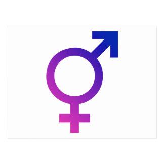 Transgender Hermaphrodite Gender Pride Symbol Postcards