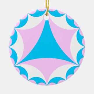 Transgender/intersex colors fractal ceramic ornament
