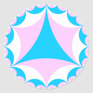Transgender/intersex colors fractal classic round sticker