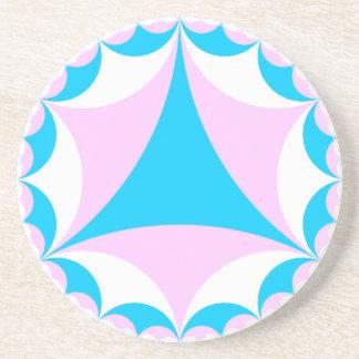 Transgender/intersex colors fractal coaster