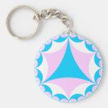 Transgender/intersex colors fractal key chain