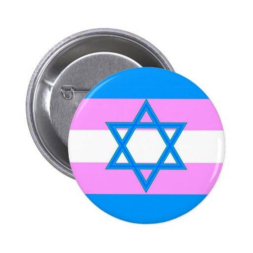 Transgender Jewish Pride 2 Inch Round Button
