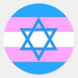 Transgender Jewish Pride Classic Round Sticker