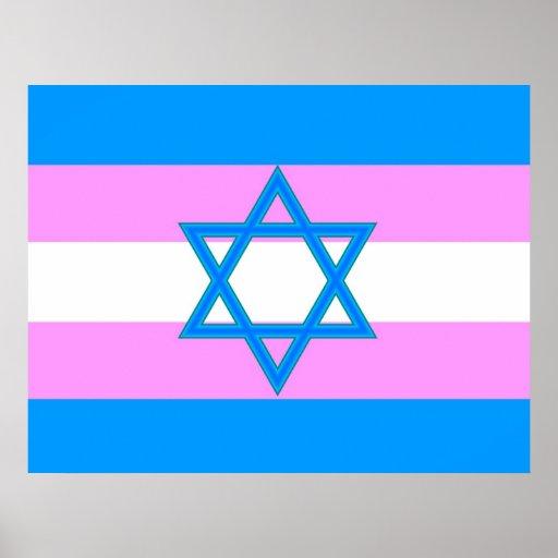 Transgender Jewish Pride Flag Poster