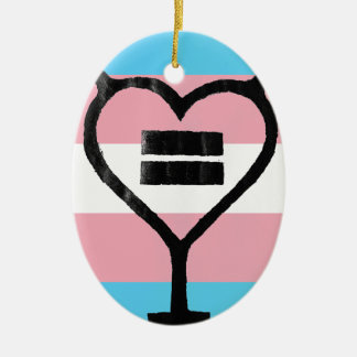 Transgender Love Yourself Ceramic Ornament