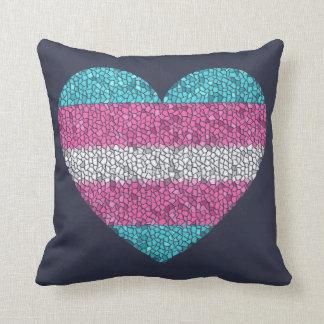TRANSGENDER MOSAIC HEART Pillow