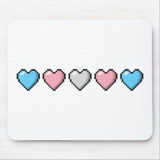Transgender Pixel Hearts Mouse Pad