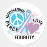 Transgender PLC Round Sticker