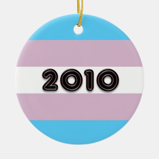 Transgender Pride 2010 Double-Sided Ceramic Round Christmas Ornament