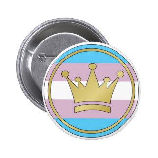 Transgender Pride Crown 2 Inch Round Button