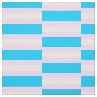 Transgender Pride Fabric by the Yard (Checkered)