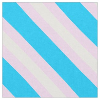 Transgender Pride Fabric by the Yard (Diagonal)