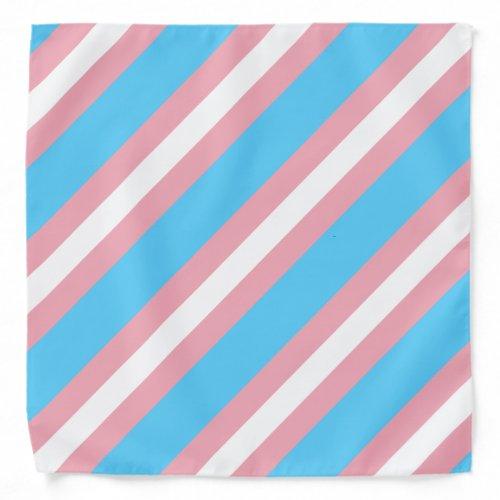 Transgender pride flag bandana