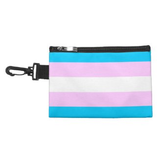 Transgender Pride Flag - Blue - White - Pink Accessory Bag