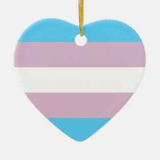 Transgender Pride Flag Ceramic Ornament