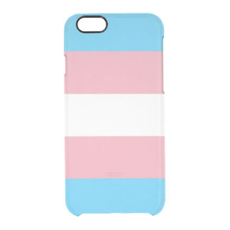 Transgender Pride Flag Clear iPhone Case