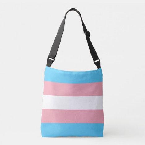 Transgender Pride Flag Crossbody Bag