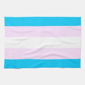 Transgender pride flag hand towel