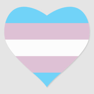 Transgender Pride Flag Heart Sticker