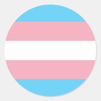 Transgender Pride Flag - LGBT Trans Rainbow Classic Round Sticker