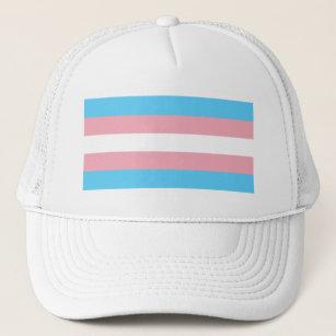 856fce572ca97 Transgender Pride Flag - LGBT Trans Rainbow Trucker Hat
